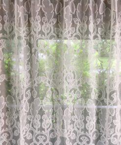 oak and acorn curtain detail